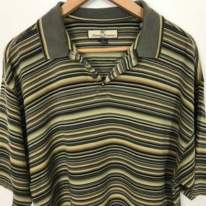 Tommy Bahama Polo Short M Striped Sleeve